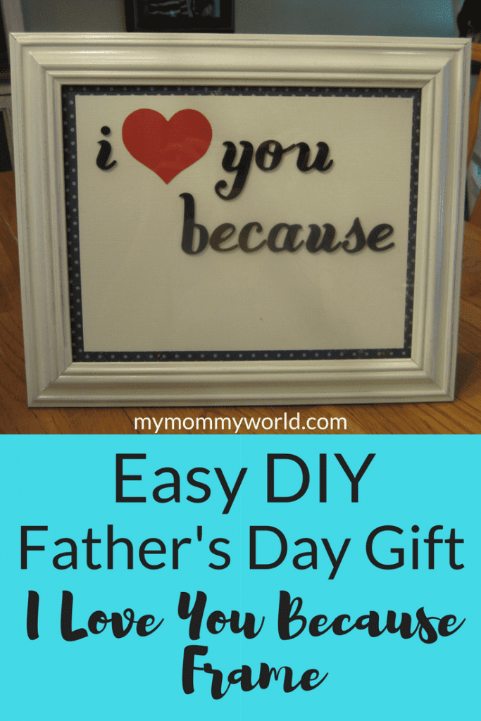 This easy DIY Father's Day gift is a perfect way to show your dad or husband just how much you appreciate him all year long. Made with inexpensive craft materials, you can personalize it to your guy's taste. This Father's Day craft idea will be a hit with Dad!
