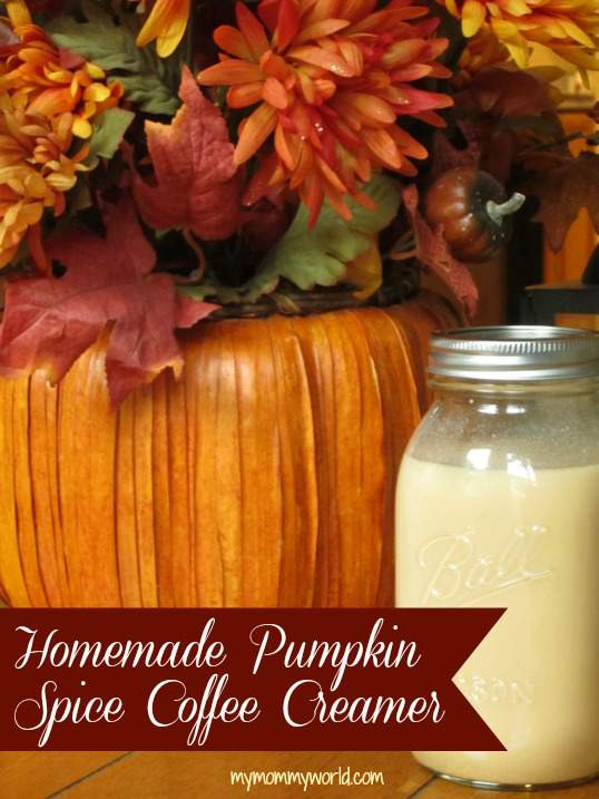 This homemade pumpkin spice coffee creamer will make one of the best fall treats around...a pumpkin spice coffee that you can drink at home! This DIY recipe is not only more healthy than the store-bought kind, but saves you a ton of money on buying your favorite fall drinks at the coffee shop.