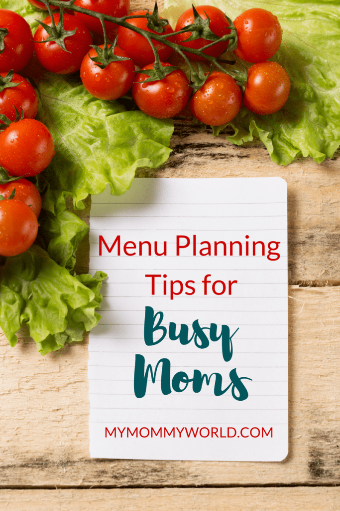 Getting in the habit of menu planning can make a busy moms life so much easier! Use these family menu planning ideas to get dinner on the table without too much trouble, and eat meals that are more healthy.