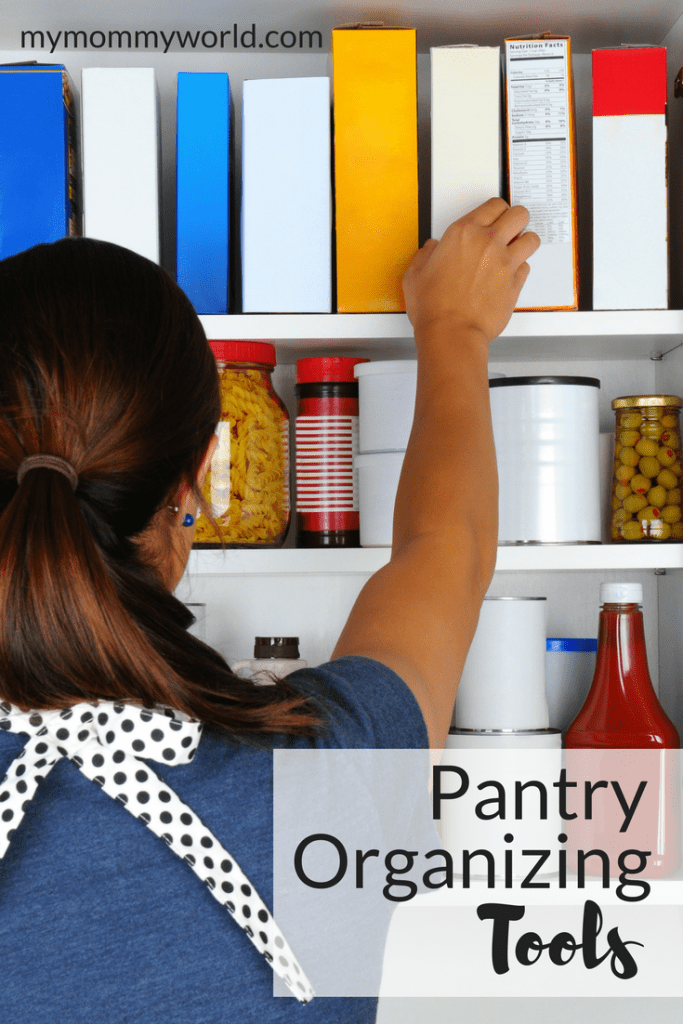 woman taking a box of food out of the pantry