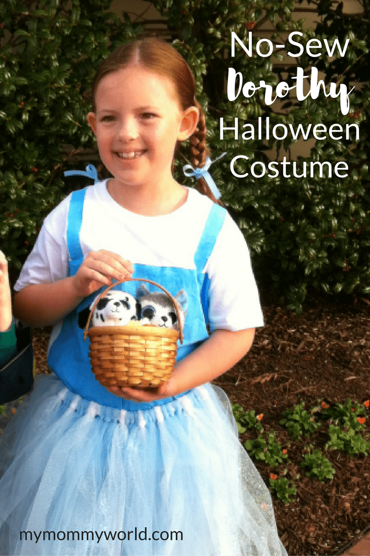 This easy DIY Dorothy costume is perfect for fans of the Wizard of Oz! The  sc 1 st  My Mommy World & No-Sew Dorothy Halloween Costume | My Mommy World