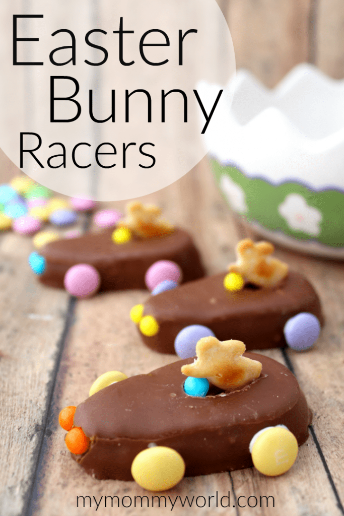 Make some cute Easter treats for kids this year with these Easter Bunny Racers! These no bake Easter treats are so much fun and yummy too, taking only minutes to put together. Even though they are so easy, people will think you spent a lot of time making these DIY Easter treats!