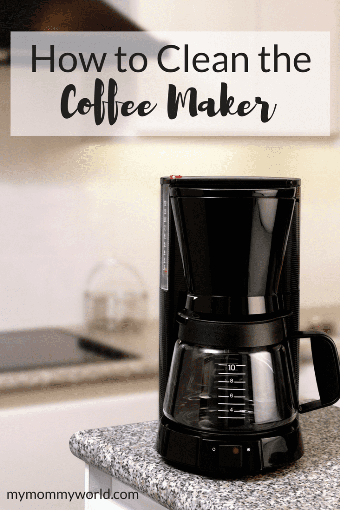 coffee maker sitting on a kitchen countertop