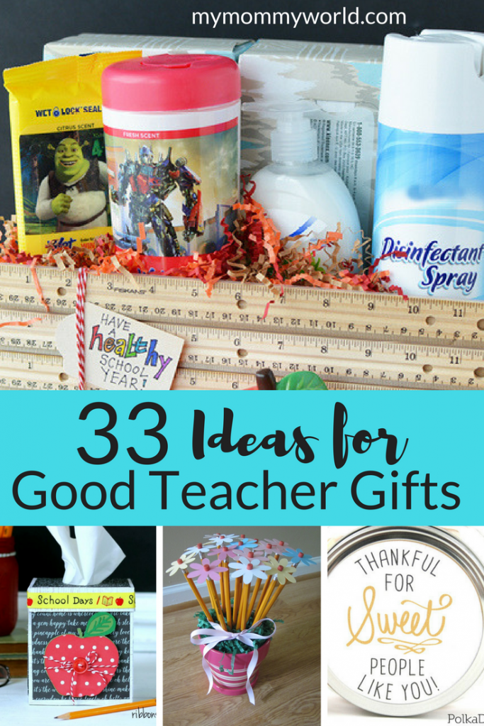 collage of Good Teacher Gift ideas