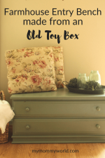 How to Repurpose That Old Toy Box into a Farmhouse Entryway Bench