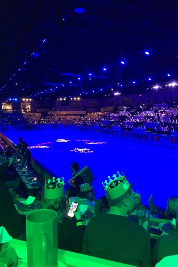view of the arena inside the medieval times castle